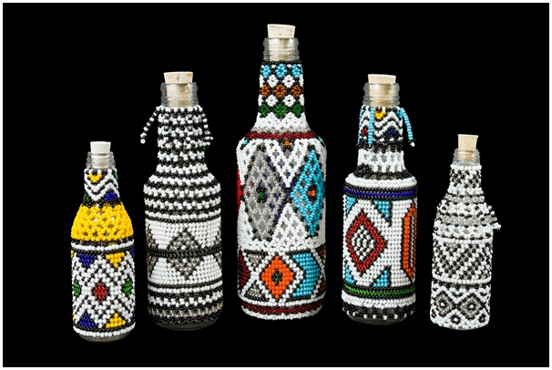 Ndebele-Beaded-Bottles