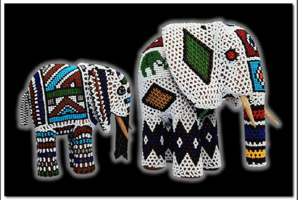Ndebele Beaded Elephants