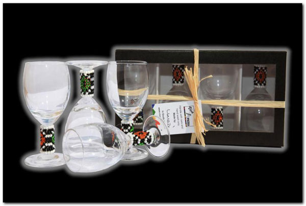 Ndebele Liquor Glasses