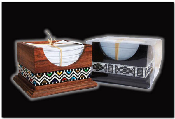 Ndebele Wooden Paper Holder Box