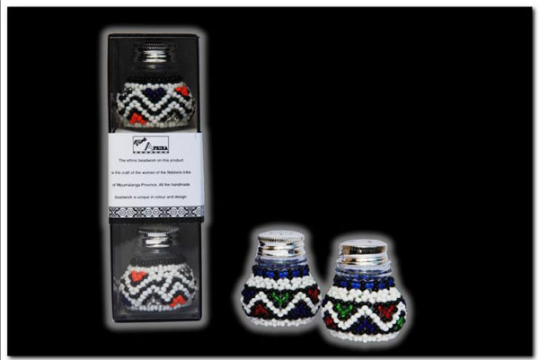 Ndebele Salt Pepper Set
