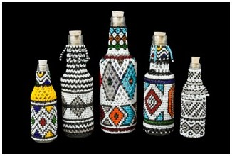 Ndebele Beaded Bottles