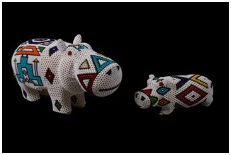 Ndebele Beaded Hippo