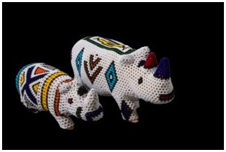 Ndebele Beaded Rhino